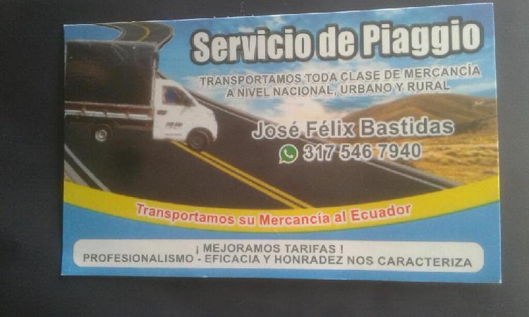 Servicio transporte
