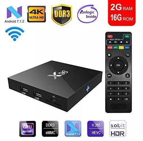 Convierte tv en smart 4k android 2g ram 16g rom