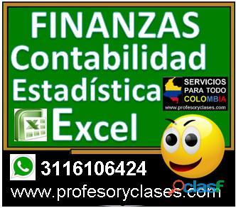 Profesor particular contabilidad a domicilio medellin finanzas excel estadistica clases particulares