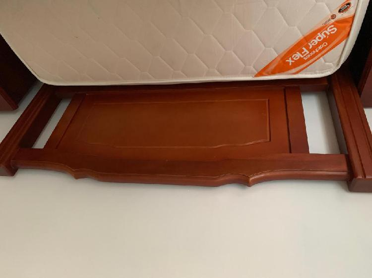 Cama doble 90*140cms madera colchón superflex