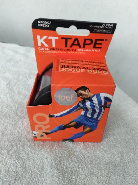 Cinta kt tape pro deportiva elástica sintética negro pre