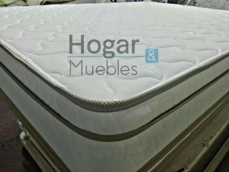 Ganga colchon doble pillow mas base cama