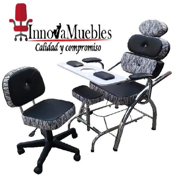 Juegos sillas de manicure y pedicure diseños elegantes