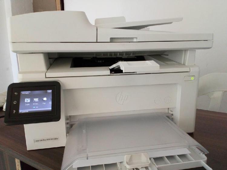 Impresora laser mono, hp mfp 130fw de segunda 9/10