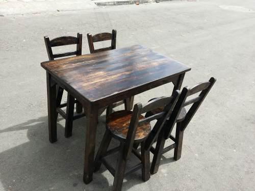 Juegos de mesa y sillas para negocio, restaurante, bar.