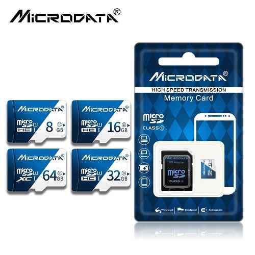 Memoria micro sd 64gb clase 10 microdata + adaptador y obseq