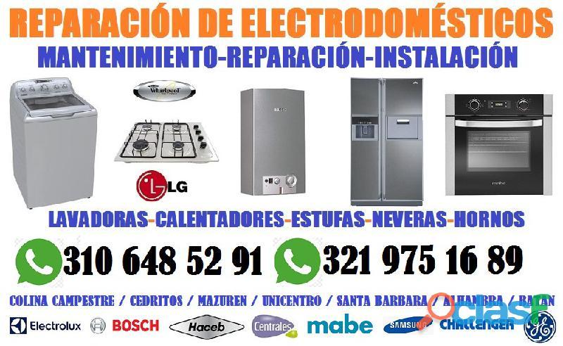 Reparación de lavadoras y calentadores cedritos