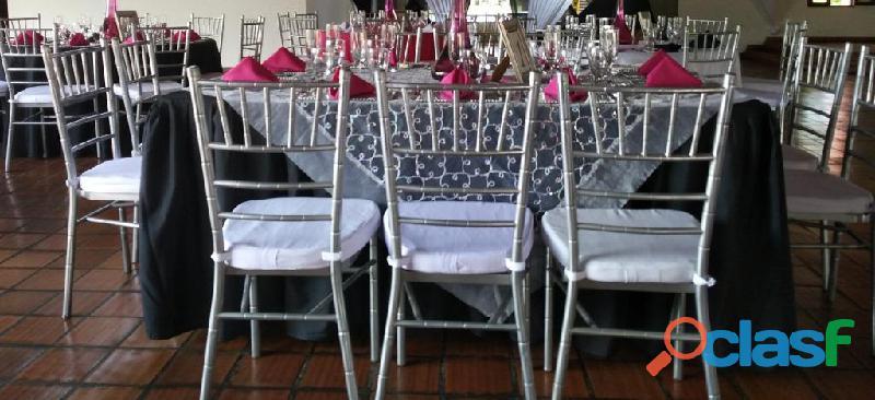 Alquiler y venta de sillas tiffany y fenix cali colombia