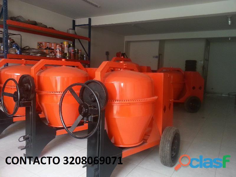 Mezcladora para concreto bulto y medio gasolina