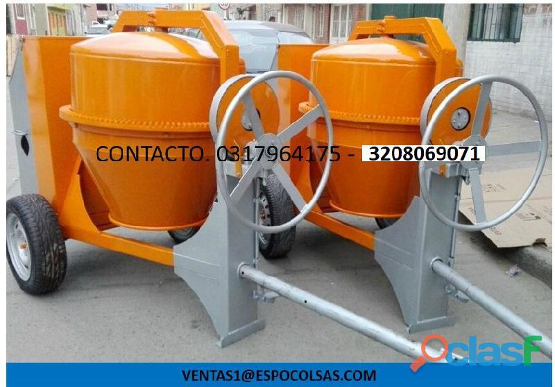 Mezcladora para concreto motor diesel cormag 1ohp