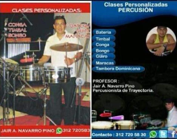 Clases de percusión latina y batería
