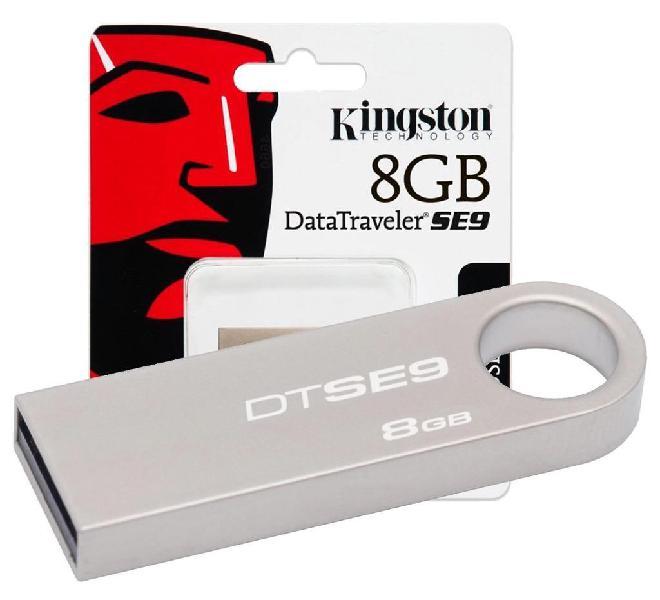 Memoria usb 8gb kingston metalica nuevas