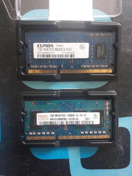 Remate memoria ram ddr3 1gb para portatil de 10700s.