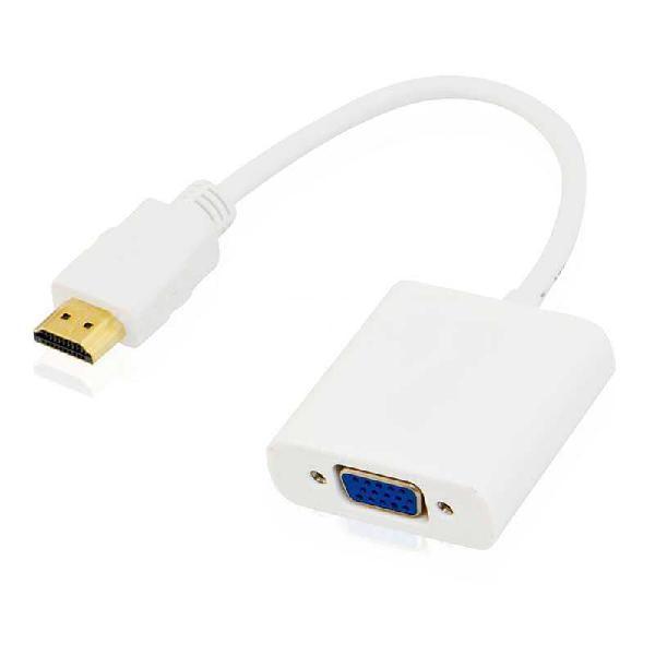 Cable conversor hdmi a vga con audio