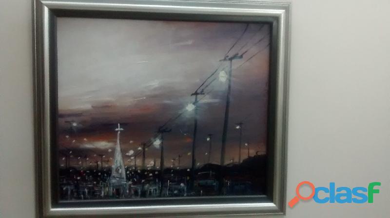 """Pintura al óleo de arcinain muñoz"""" entrada a b/tura"""
