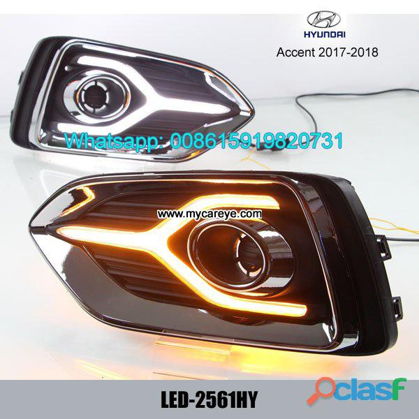 Hyundai accent 17 18 drl led daytime running lights autobody parts