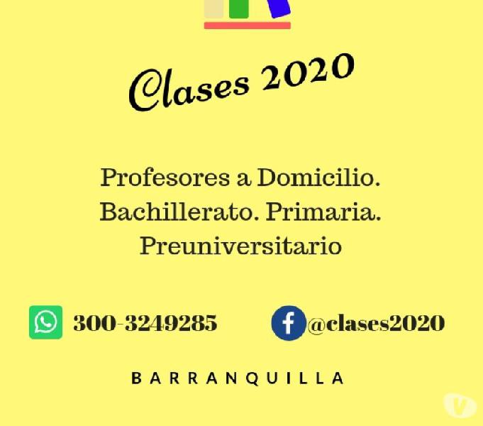Profesores particulares a domicilio. clases 2020