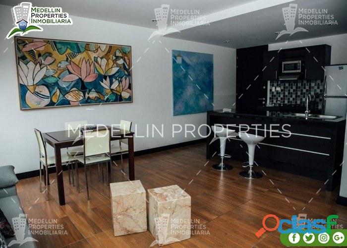 Apartamentos amoblados baratos en el poblado cod: 5015