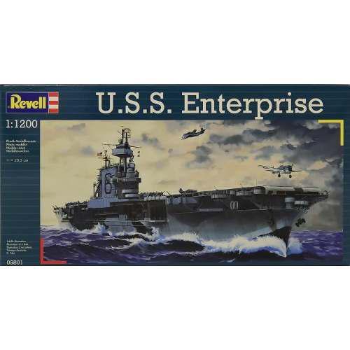 Modelo plastico revell naval uss enterprise escala 1:1200