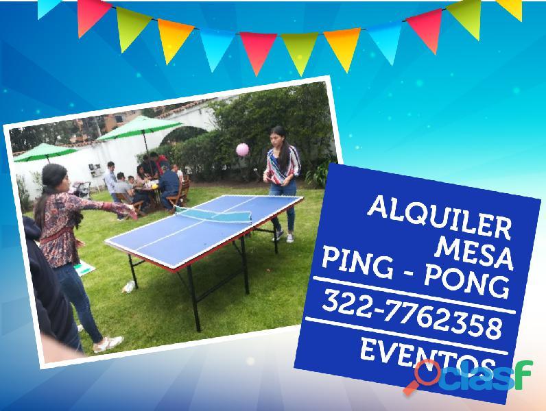 Alquiler mesa de ping pong bogota