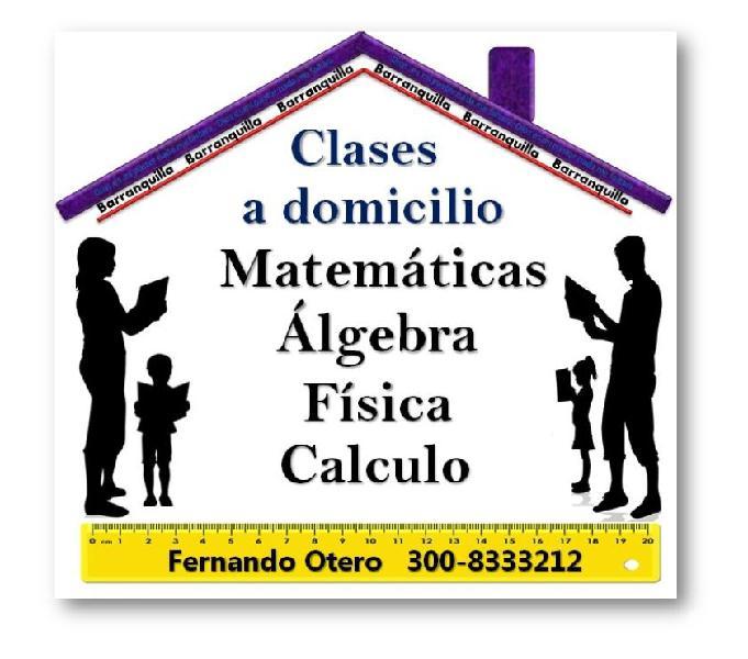 Clases de matemáticas, álgebra, física y calculo