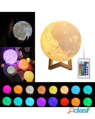 Lampara tipo luna, 16 colores