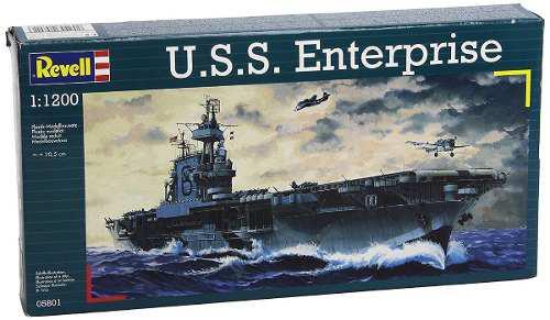 Modelo Revell Naval Uss Enterprise Escala 1:1200 Nivel 3