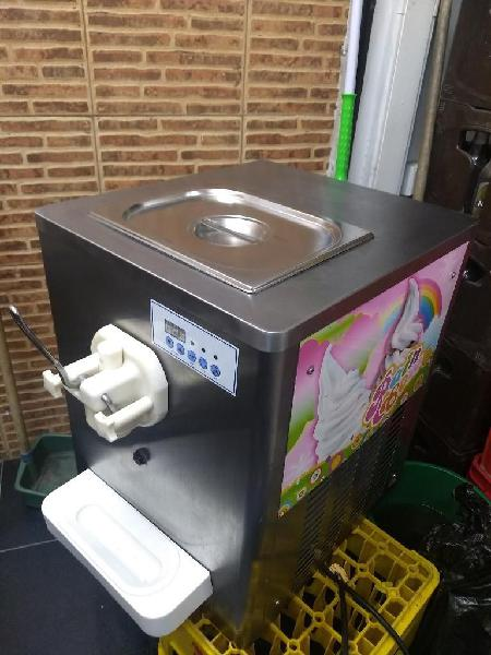 Maquina de helado suave a base de yogur
