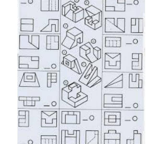 Curso de dibujo mecanico alumnos de colegios industriales