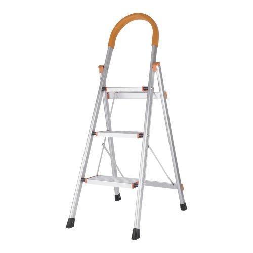 Escalera 3 Pasos Hogar Aluminio Plegable