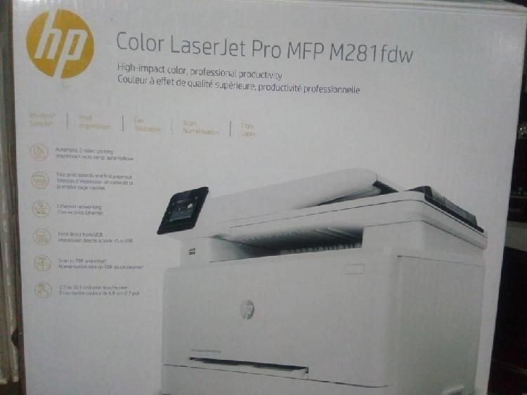 Impresora hp color láser jet pro mfp m281fdw