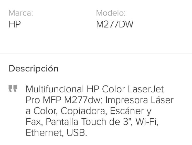 Impresora hp laser jet pro todo en uno