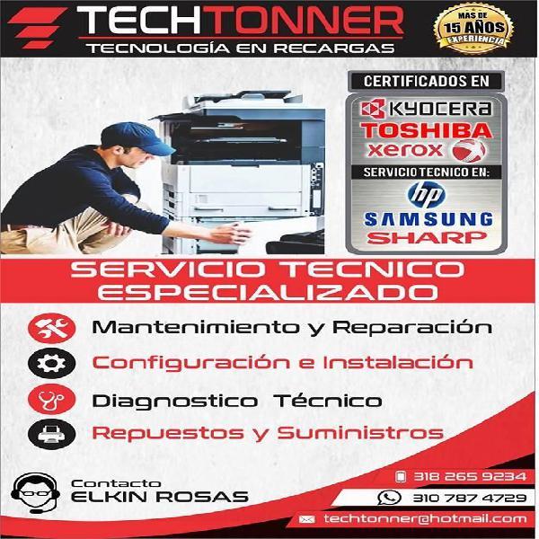 Servicio técnico profesional y certificado impresoras y