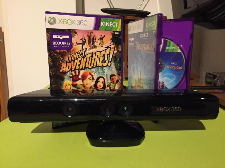 Kinect para xbox 360 2 juegos originales para kinect