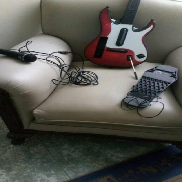Kit banda guitar hero world tour para wii