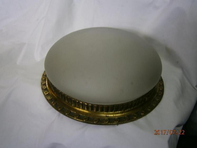 Lampara plafon aro bronce cristal opalizado marcado vical