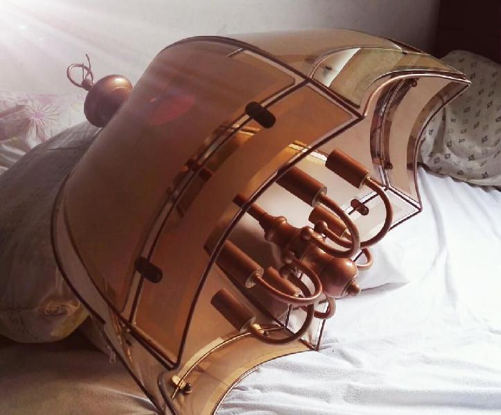 Lampara antigua de bronce de.coleccion