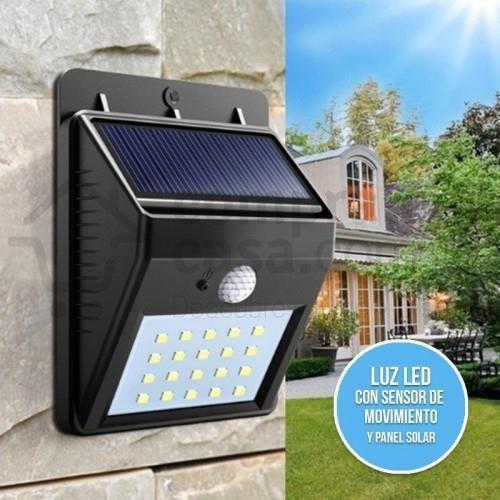 Luz de emergencia lampara con sensor de movimiento recarga
