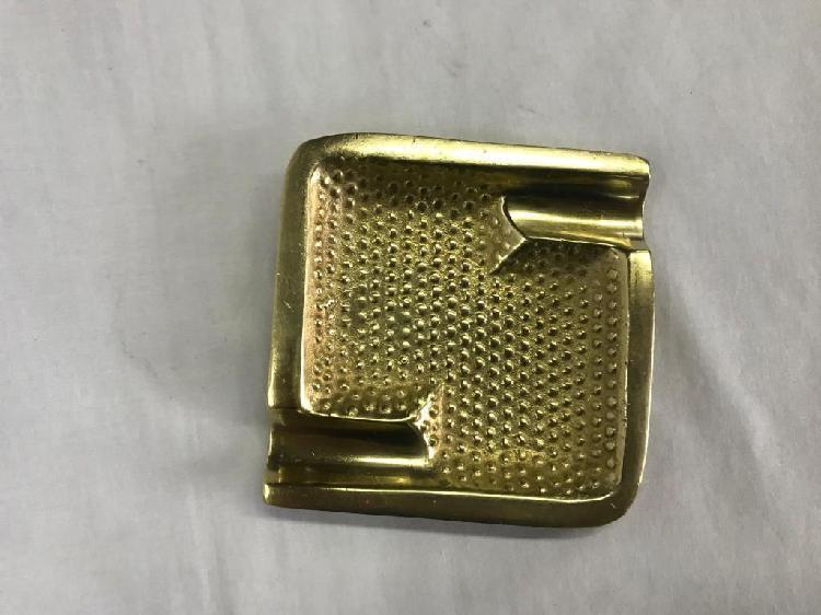 Cenicero cuadrado bronce puntos macizo
