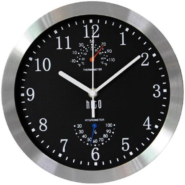 Reloj pared decoración temperatura humedad color envío