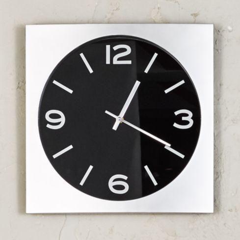 Reloj pared silver classic blanco 35 cm tezzio. hoy