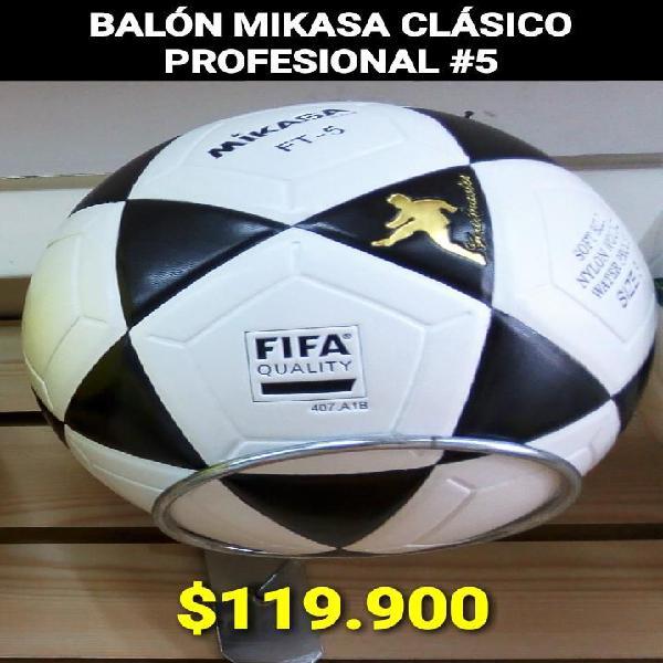 Balón futbol mikasa 5 clasico profesional