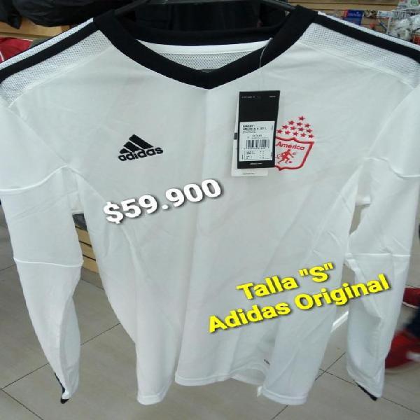 Camiseta america adidas blanca manga larga talla s