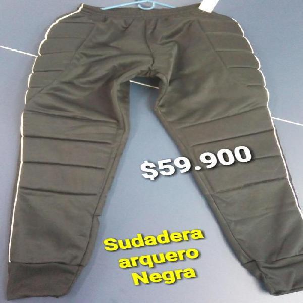 Pantalon sudadera para arquero negra