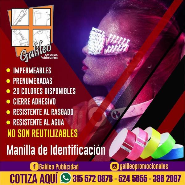 1739bbb719d5 Manillas tyvek manillas de acceso y control eventos