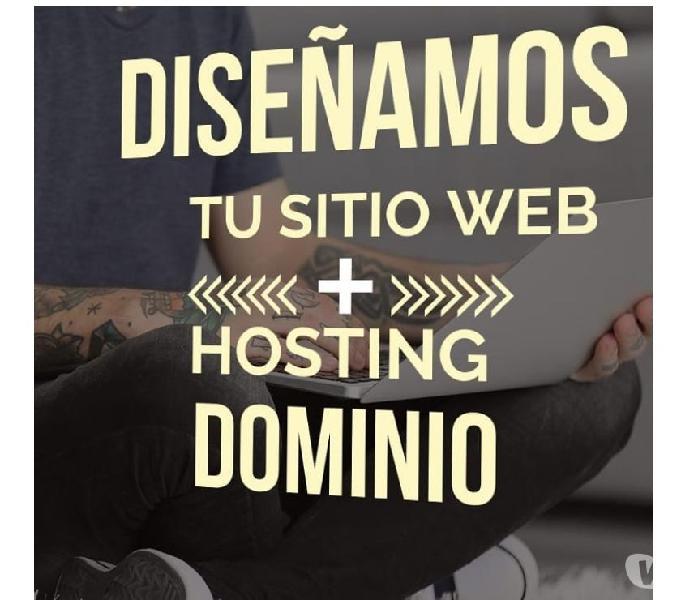 diseño de pagina web+hosting+dominio