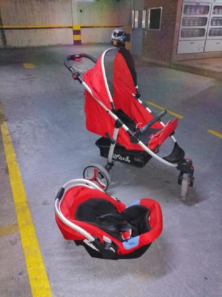 Coche bebé con silla carro