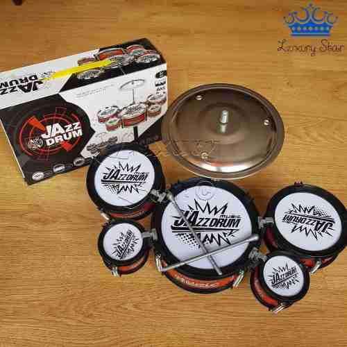Bateria musical infantil didactica 5 tambores + platillos