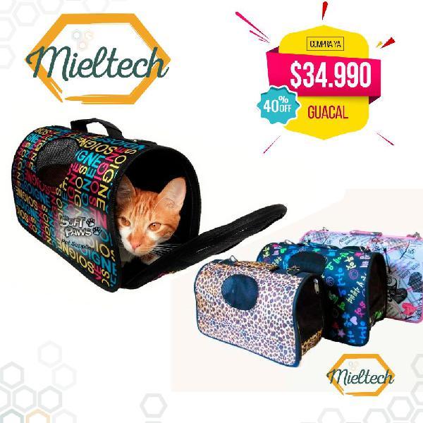 Bolso guacal para gatos y perros pequeños cargador para