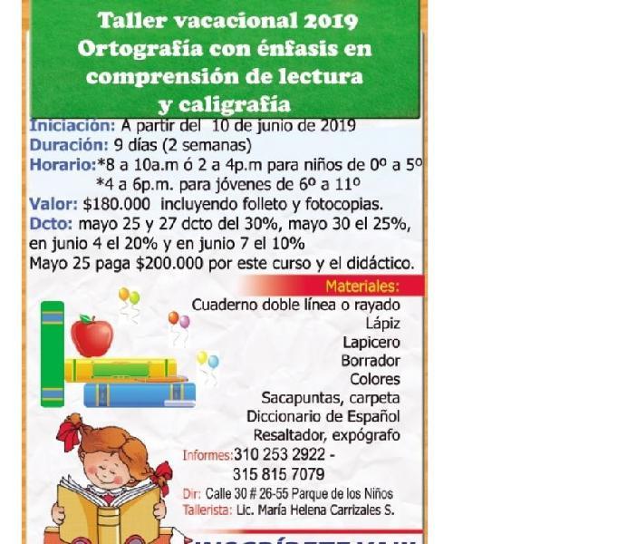 Cursos vacacionales para niños y jóvenes de 5 a 18 años